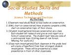 social studies skills and methods science technology and practices