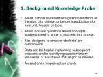 1 background knowledge probe