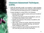 classroom assessment techniques cats