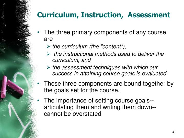 """designing curriculum instruction and assessment for Overview of book this book is divided into four parts here is a brief overview of each part: part 1, seeing the big picture connections first, defines curriculum in terms of rigor, provides the background of this model, connects curriculum design to the """"big picture"""" of standards, assessments, instruction, and data practices, previews the step-by-step design."""