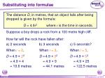 substituting into formulae17