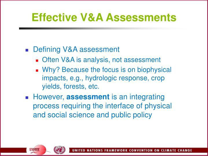 Effective v a assessments