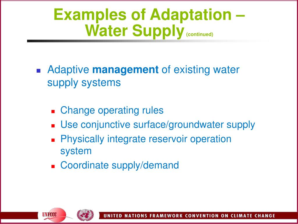 Examples of Adaptation –