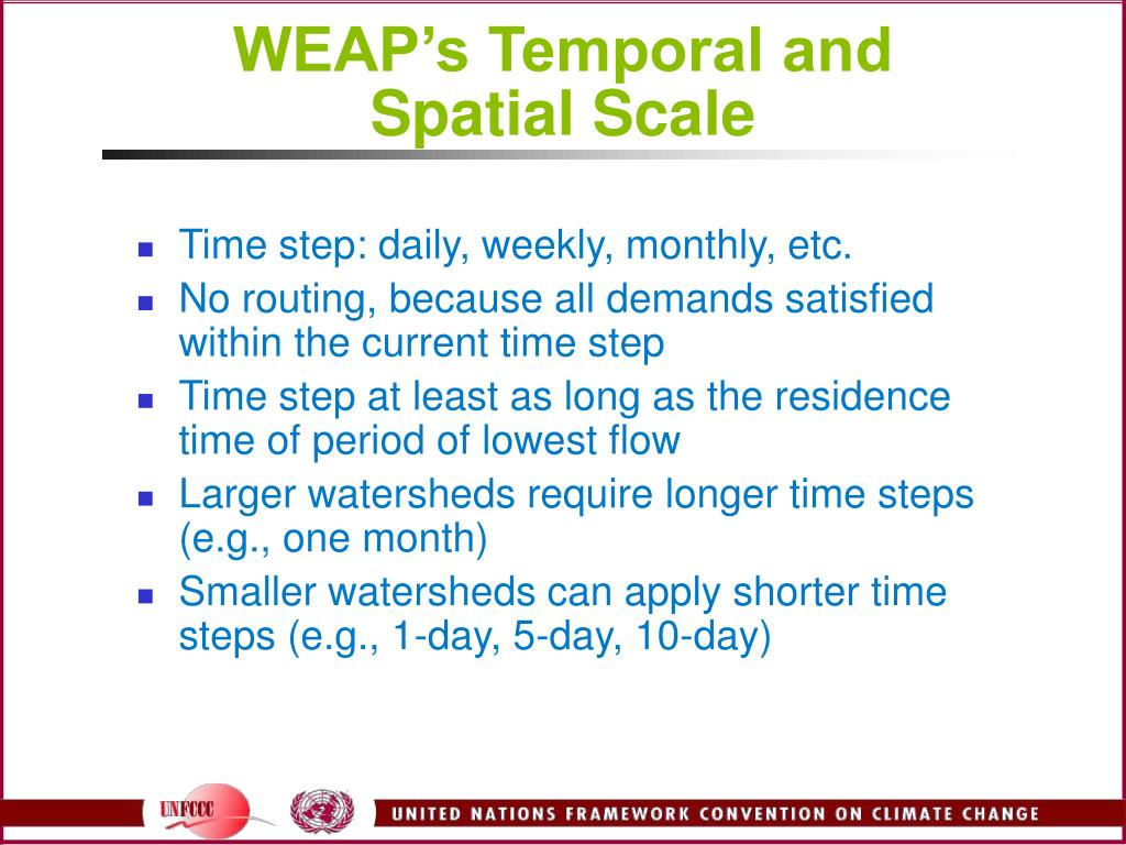 WEAP's Temporal and