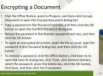 encrypting a document
