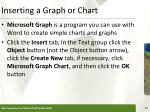 inserting a graph or chart