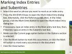 marking index entries and subentries