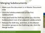 merging subdocuments