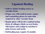 ligament healing