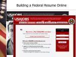 building a federal resume online