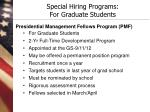 special hiring programs for graduate students