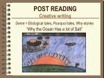 post reading creative writing
