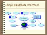 sample classroom connections