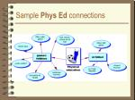 sample phys ed connections