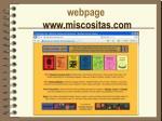 webpage www miscositas com