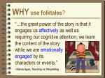 why use folktales