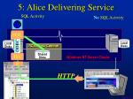 5 alice delivering service