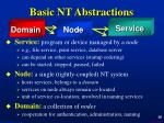 basic nt abstractions