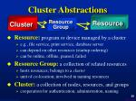 cluster abstractions