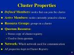 cluster properties