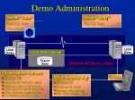 demo administration