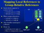 mapping local references to group relative references
