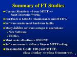 summary of ft studies
