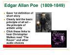 edgar allan poe 1809 1849
