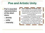 poe and artistic unity