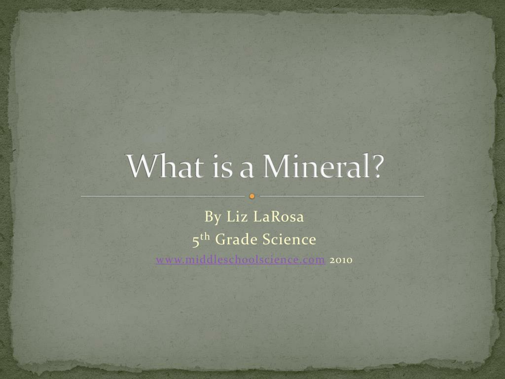 what is a mineral l.