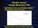 double versus single modulator fm9
