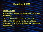 feedback fm