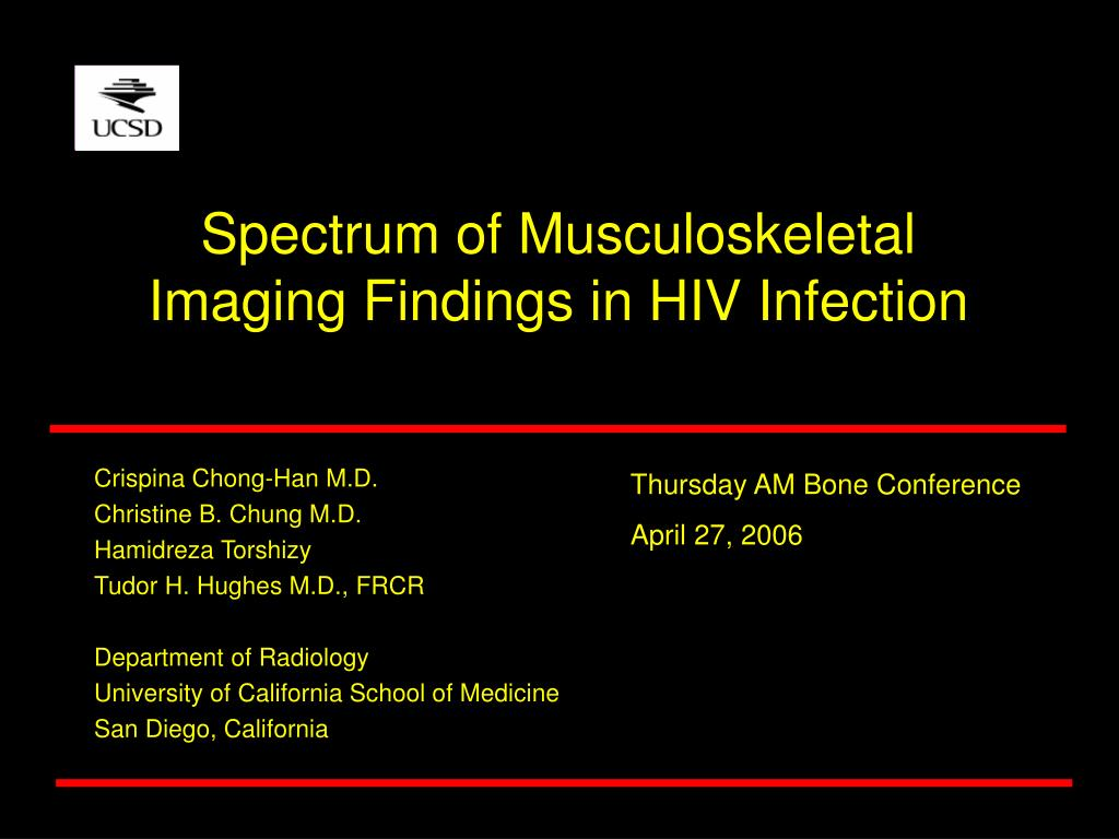 spectrum of musculoskeletal imaging findings in hiv infection l.