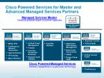 cisco powered services for master and advanced managed services partners