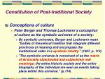 constitution of post traditional society
