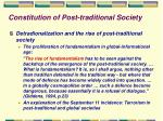 constitution of post traditional society8