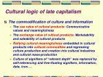 cultural logic of late capitalism11