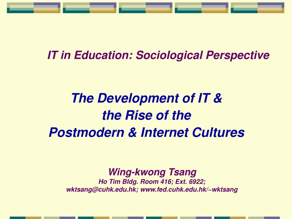 it in education sociological perspective l.