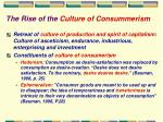 the rise of the culture of consummerism