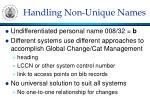 handling non unique names
