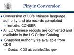 pinyin conversion