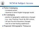 scm subject access