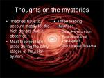 thoughts on the mysteries