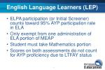 english language learners lep
