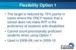 flexibility option 1