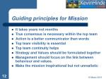 guiding principles for mission
