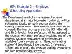 bip example 2 employee scheduling application