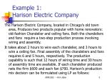 example 1 harison electric company