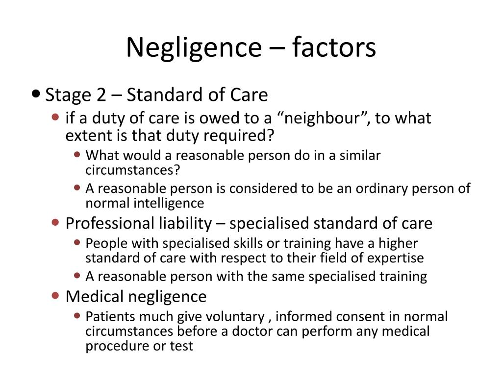 negligence and duty of care
