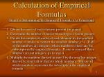 calculation of empirical formulas